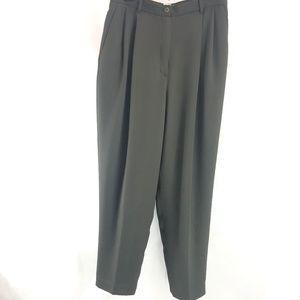 Dressbarn Dark Olive Green Career Trouser Pants 10